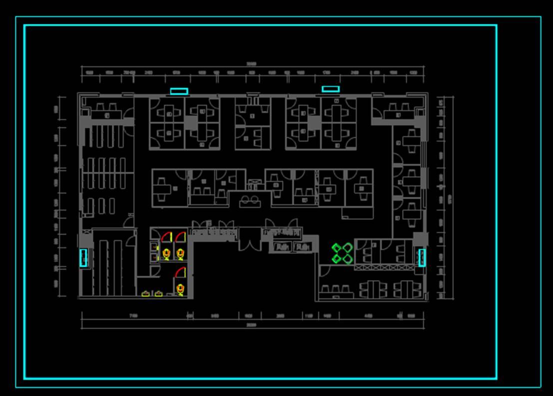 CAD室内设计图库大全之办公室