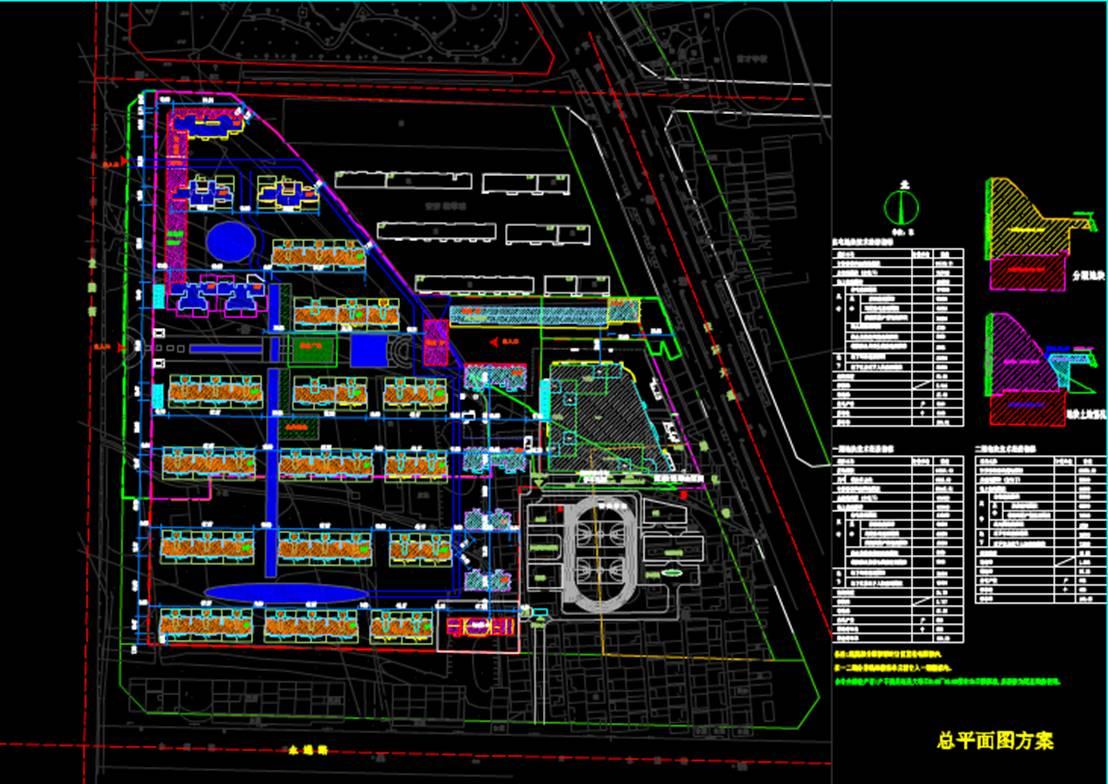 赵县项目规划图城市规划CAD平面图