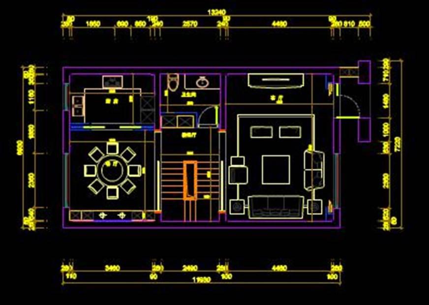 荣安香园某户型的CAD平面设计图