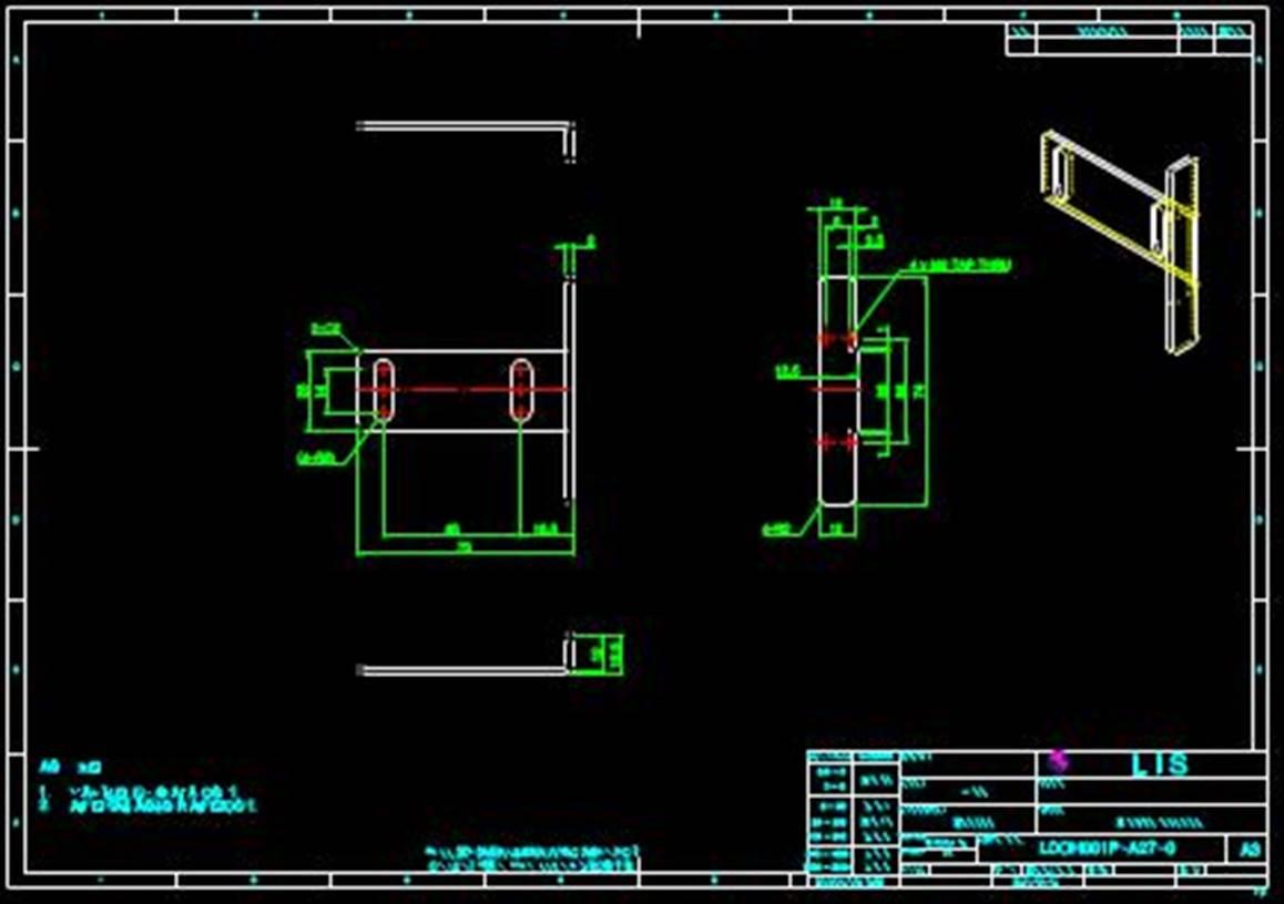 某工厂生产的零件CAD机械设计图