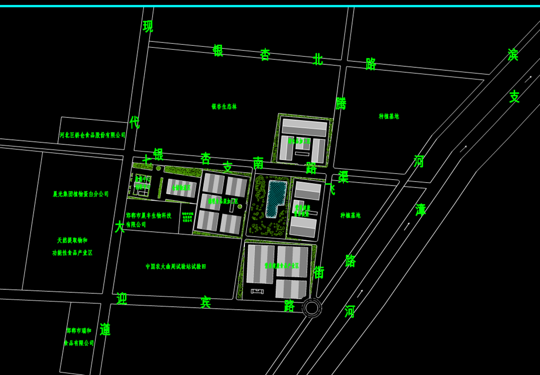 办公楼CAD规划图-食品产业园图.