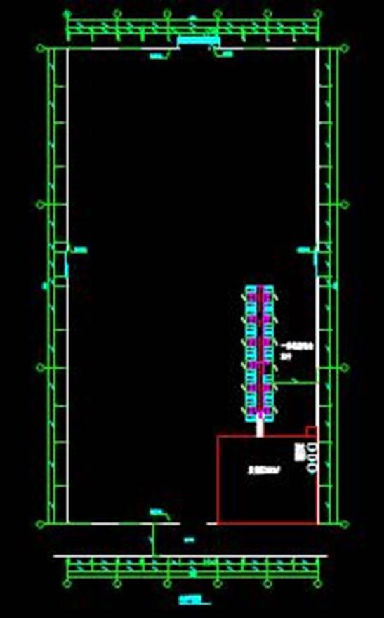 洁柔协同仓输送线的CAD电气工程图