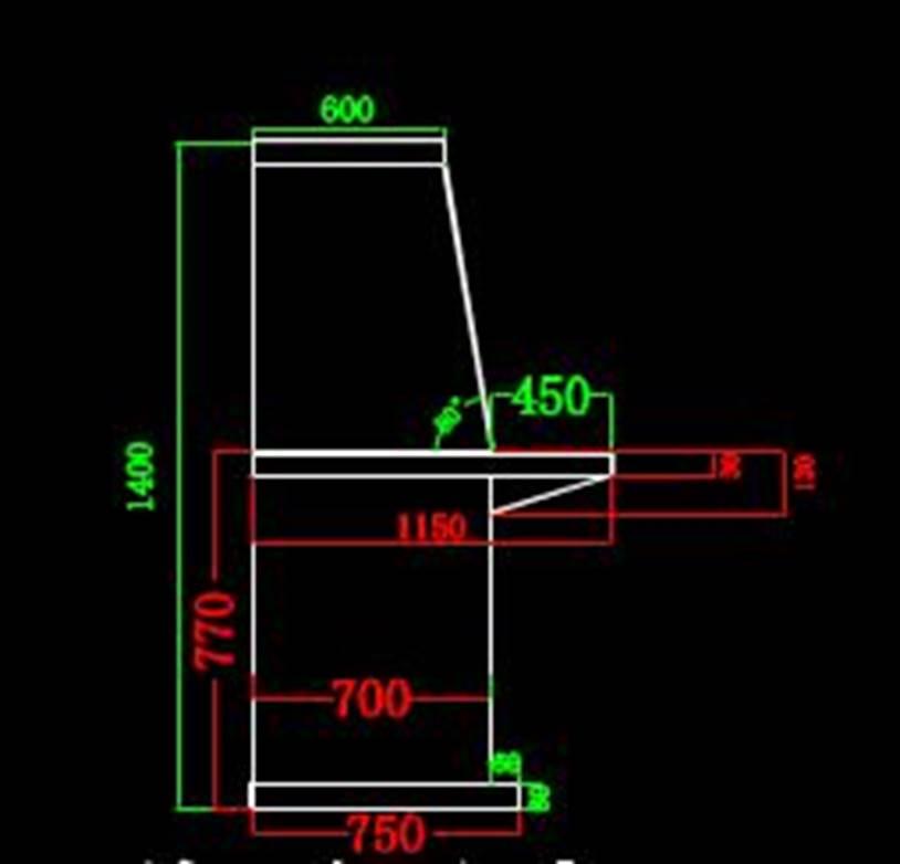 岚山一区新加操作台面板的CAD设计方案图纸,