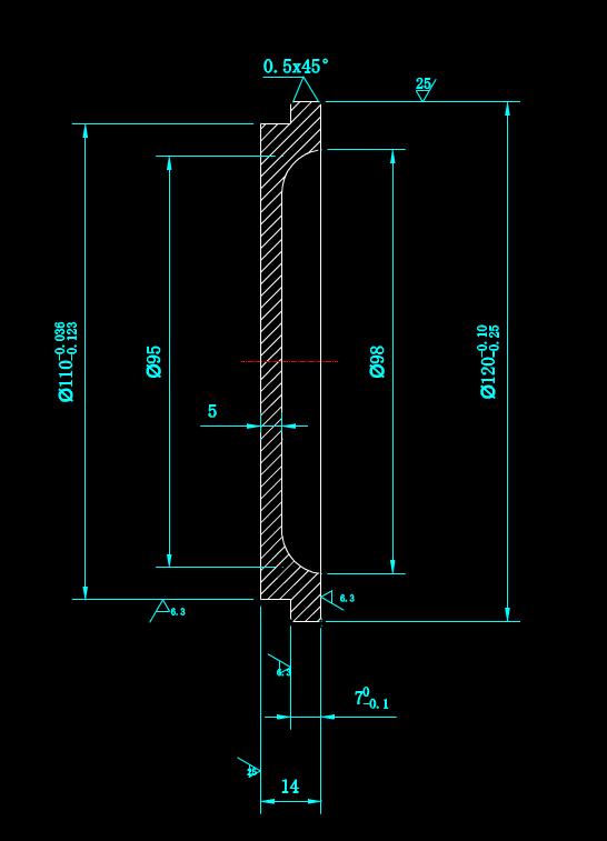 闷盖的CAD入门机械制图图纸