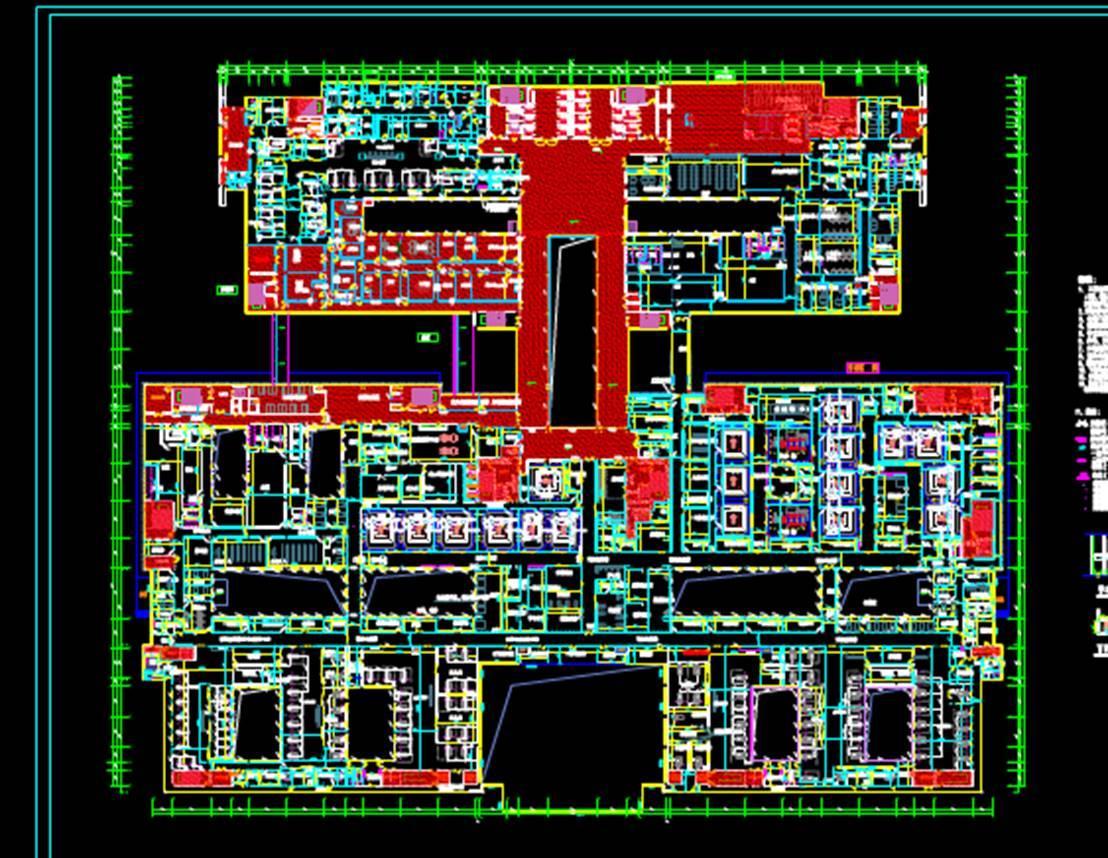 某医院门诊楼四层医疗建筑CAD图纸