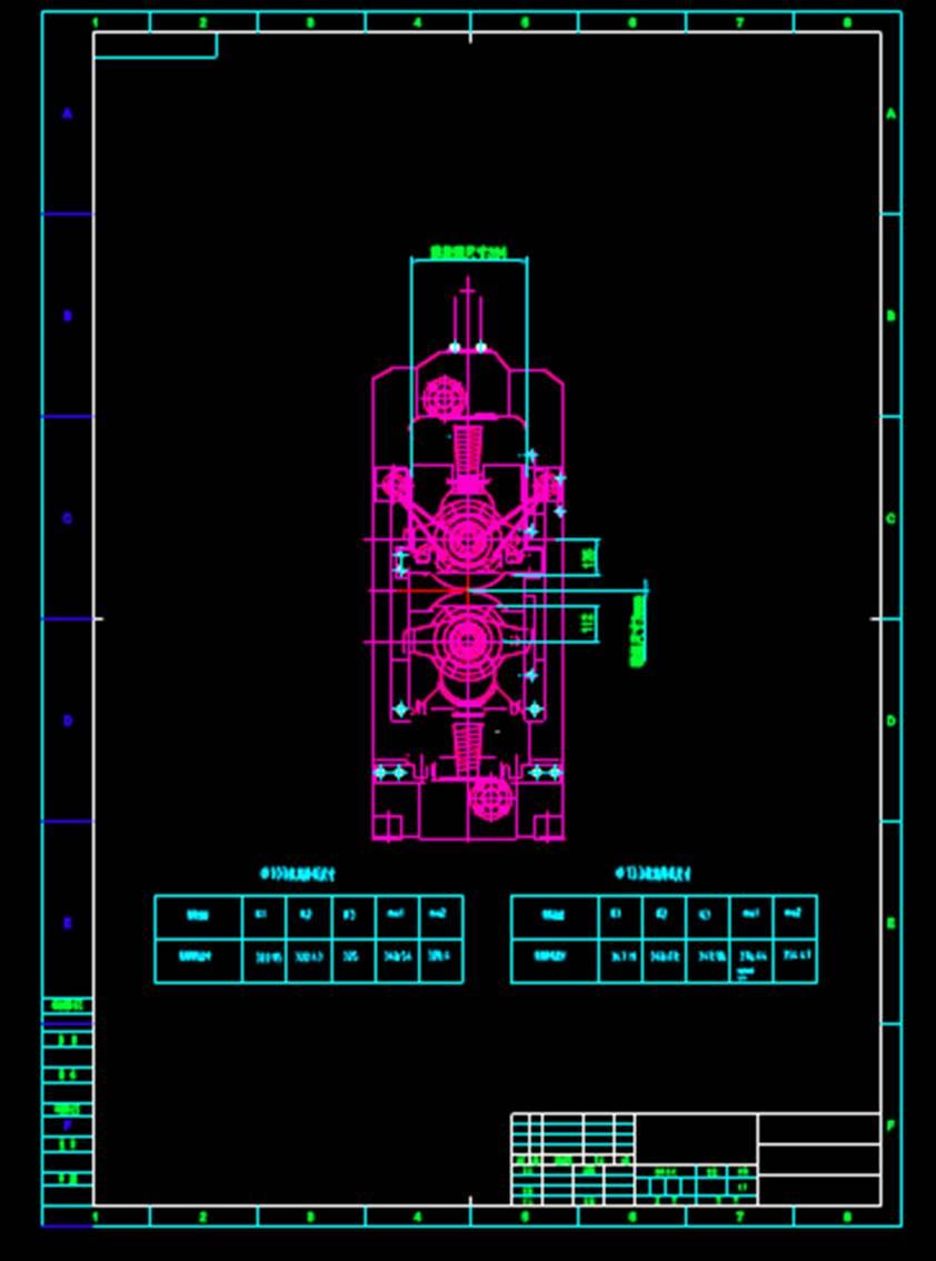 机架机械CAD图纸怎么看