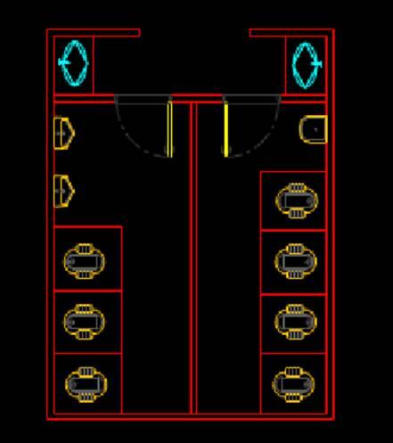 居家棉纺平面图建筑工程CAD制图