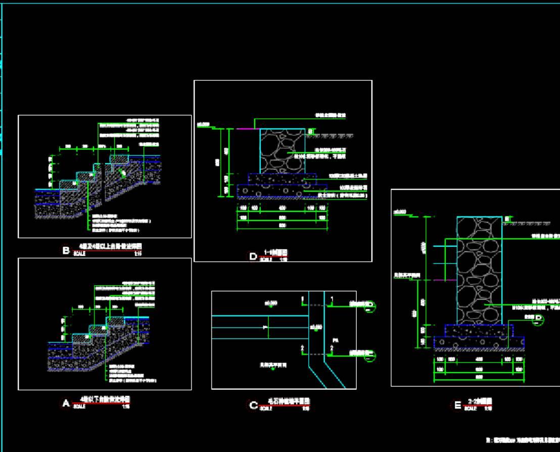 台阶做法建筑结构图CAD