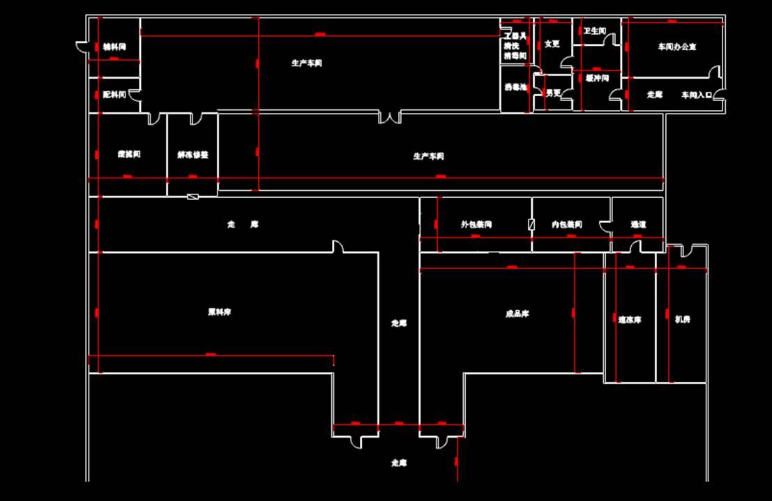 某车间平面商业楼CAD图纸