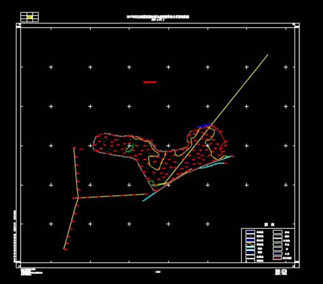 某道路项目的CAD平面地形图