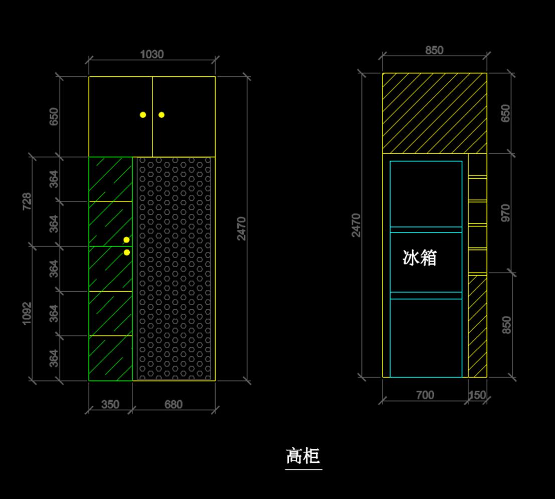 CAD室内建筑装修图纸.