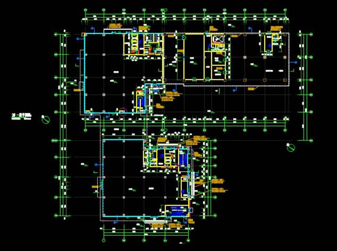 某广场一层的CAD建筑平面设计图