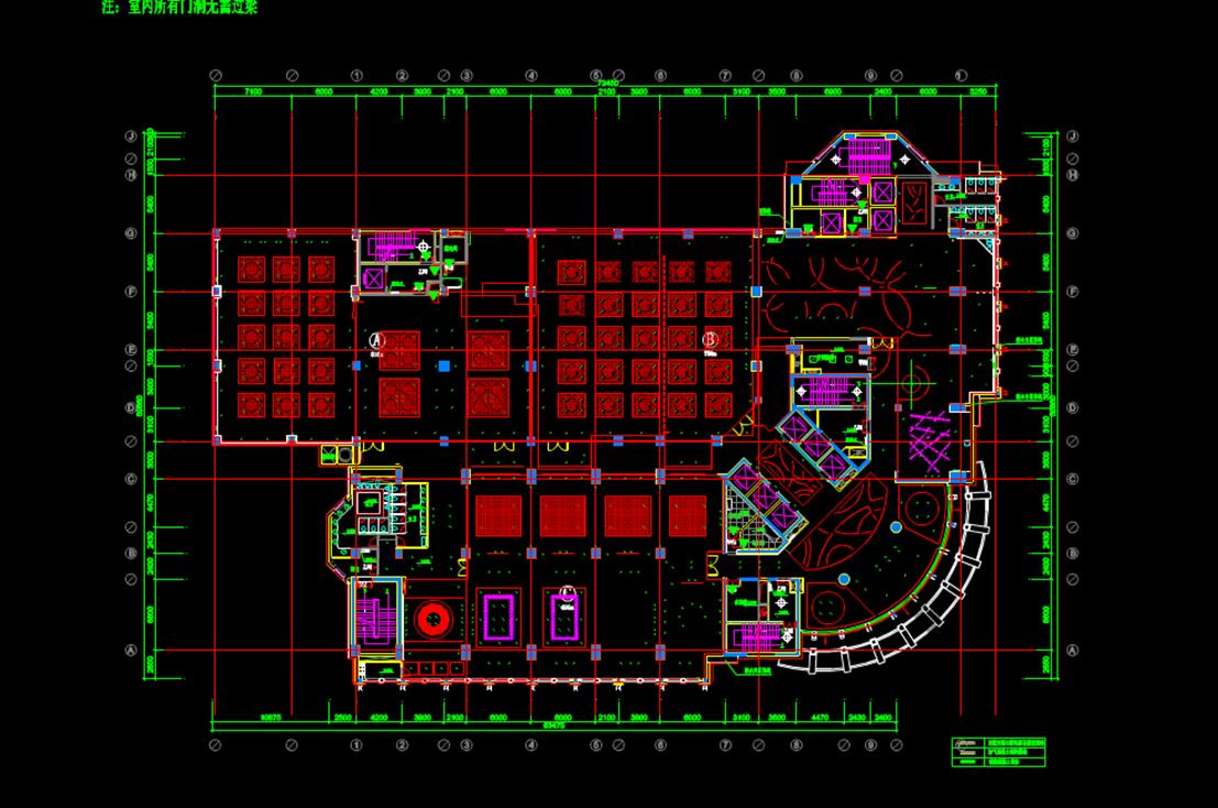 某商业楼四楼的CAD平面图.