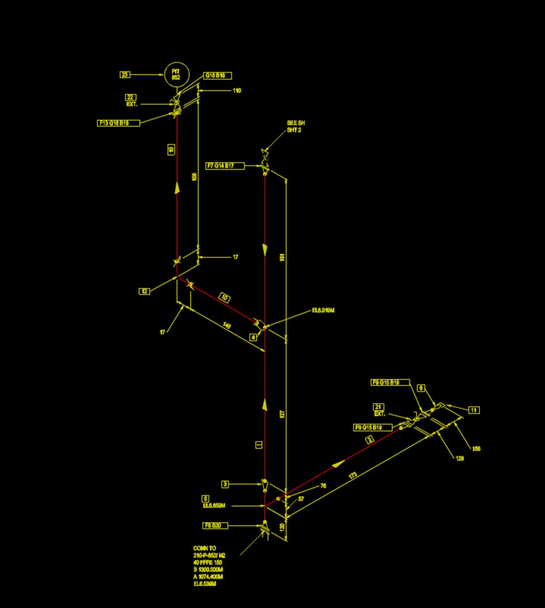 CAD排水系统示意图.