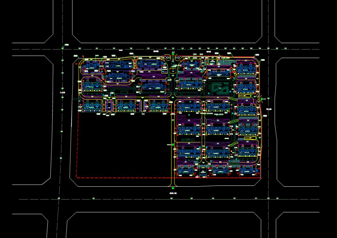 城市规划CAD平面总图