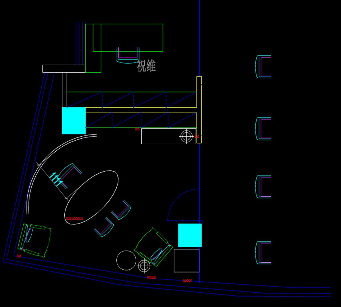 室内建筑-办公室CAD图纸
