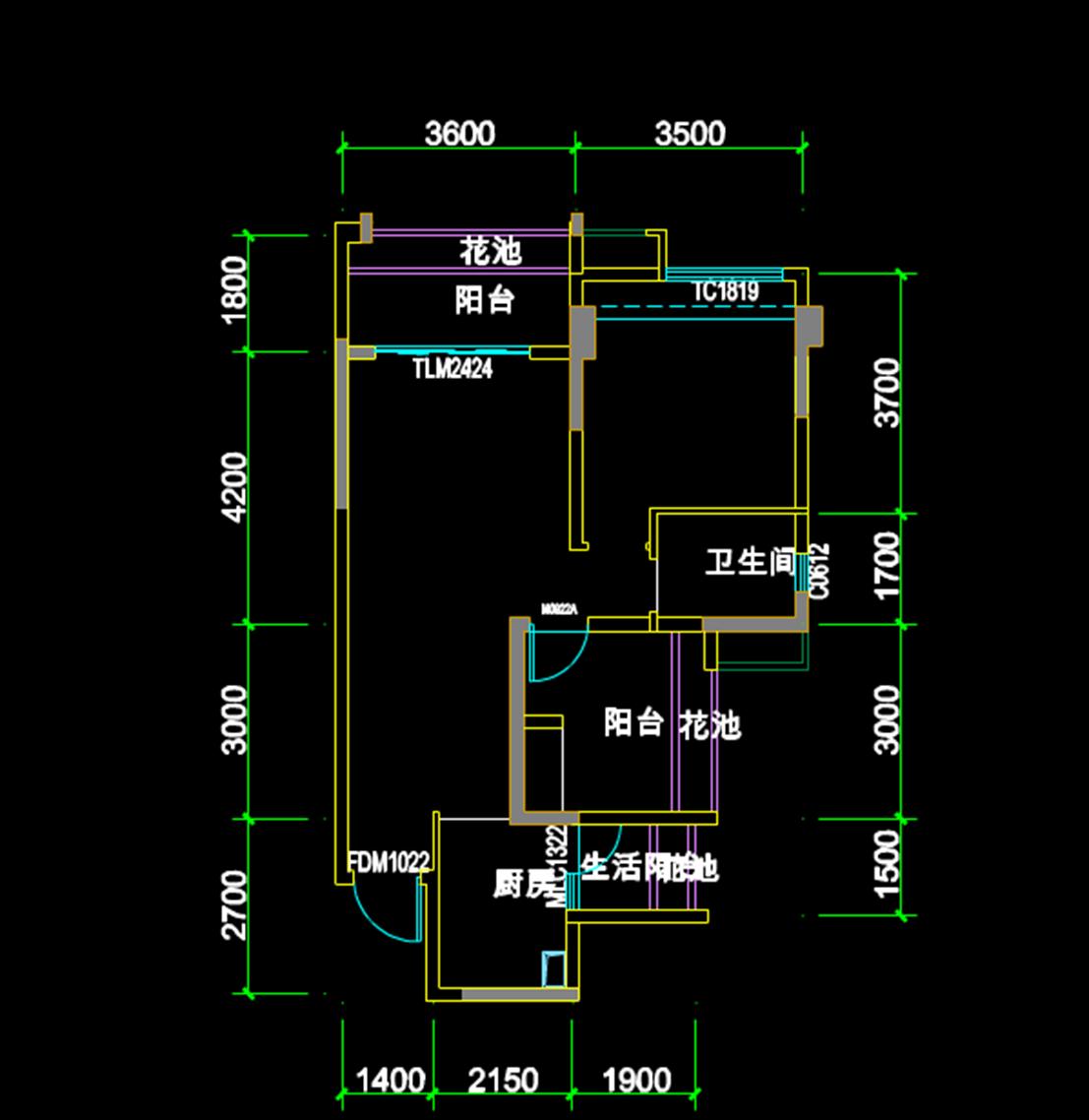 CAD建筑制图图纸-楼层合同附图