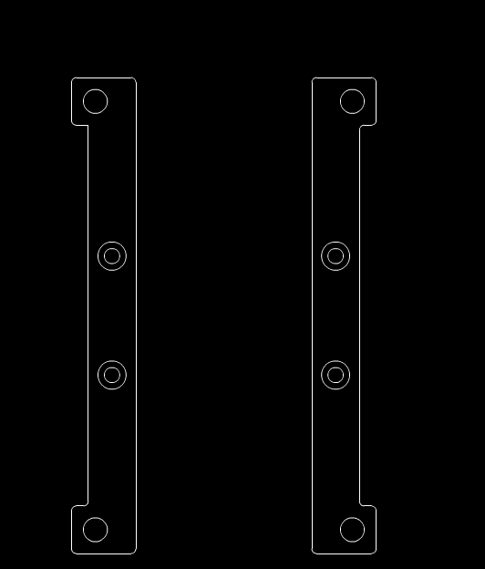 某机械设备的零件部位CAD示意图