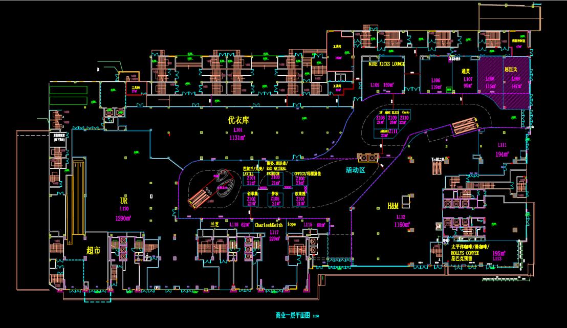 某商业楼的CAD平面图