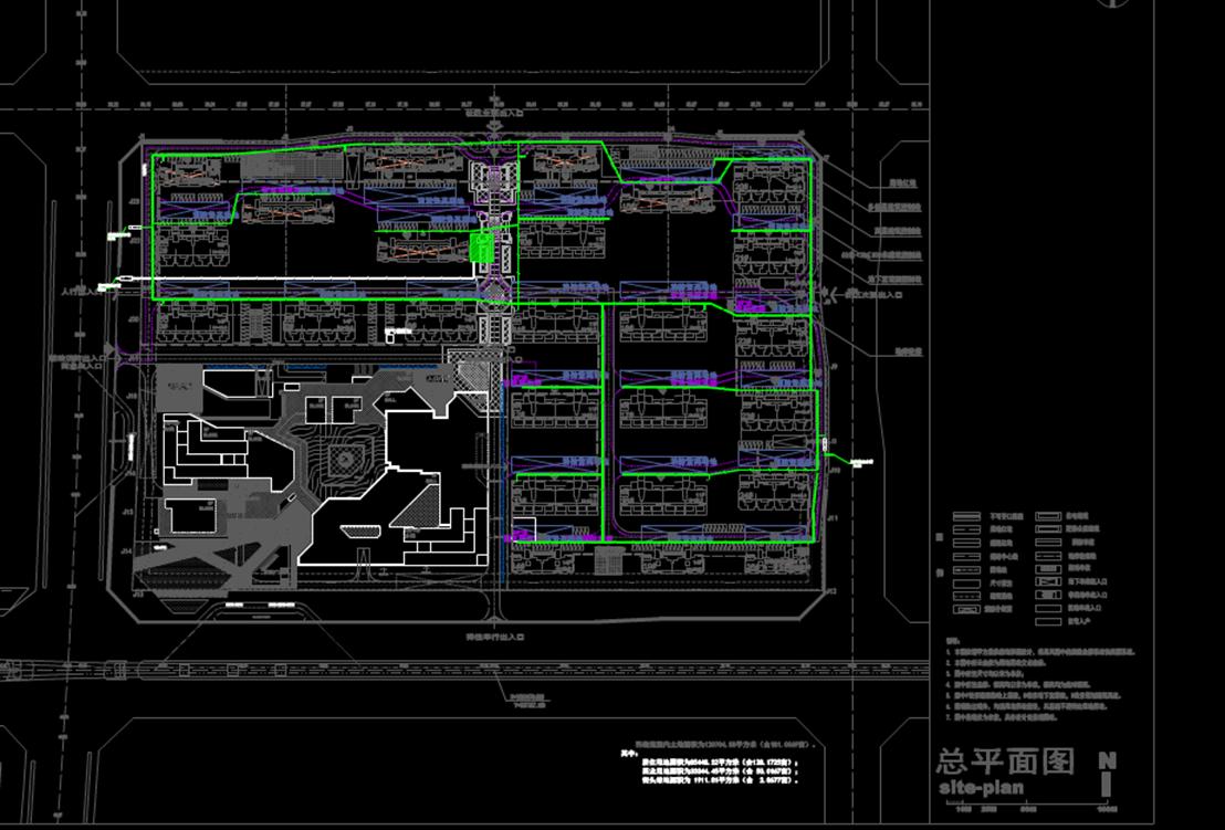 CAD排水图-供水报规划示意图