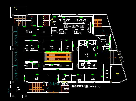 解放碑商场的CAD平面设计图纸