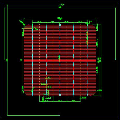 某工厂的CAD机械平面设计图纸