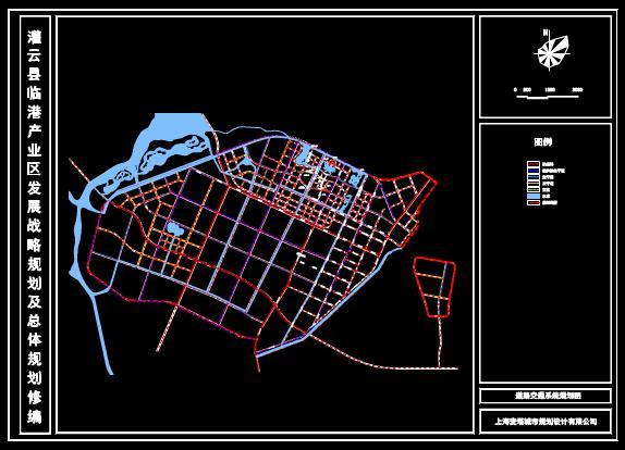 灌云县临港产业区发展战略道路交通系统的CAD规划图