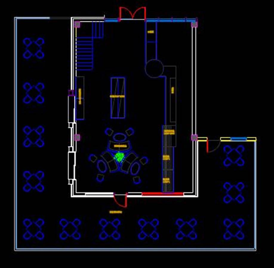 某室内平面的CAD平面设计图