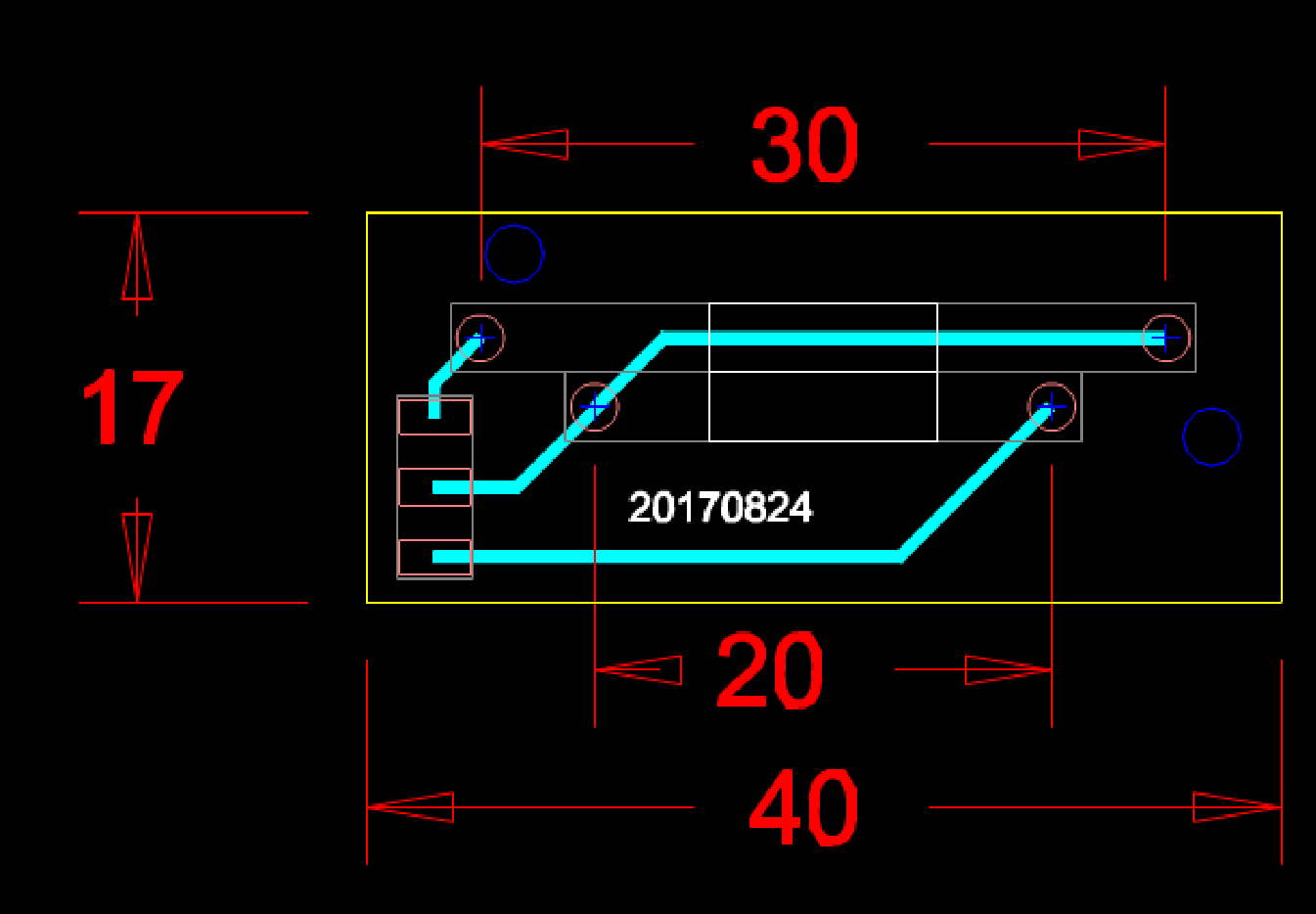 某工厂机械设备的CAD设计平面图纸