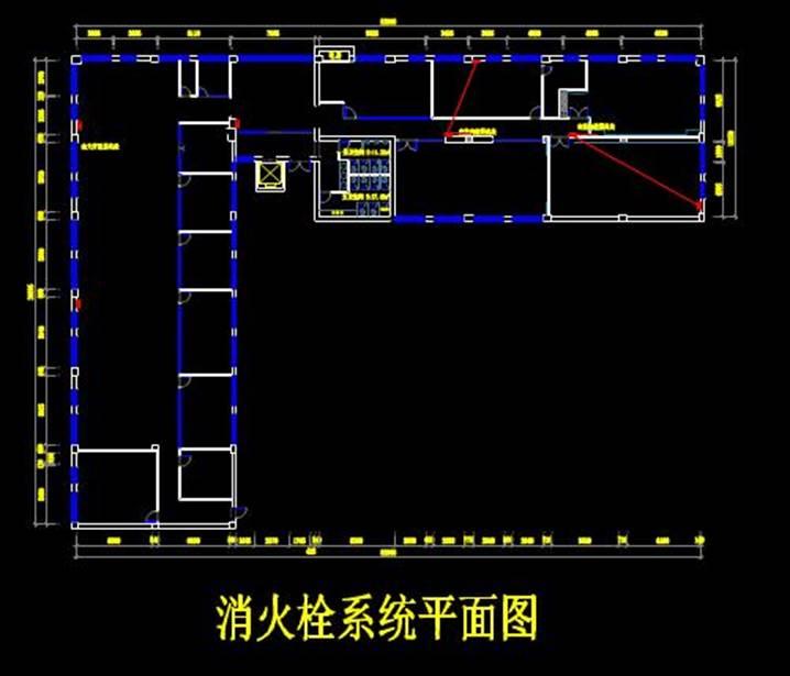 某大楼消防系统的CAD给排水系统图