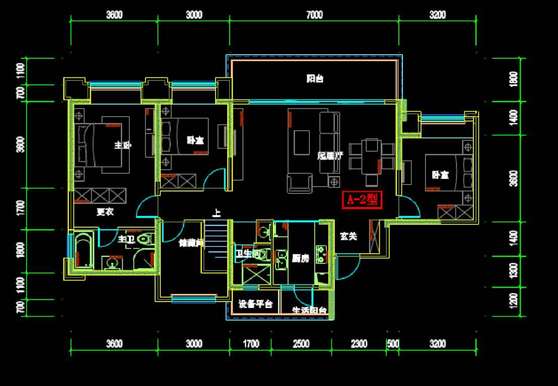 室内设计CAD绘制户型图