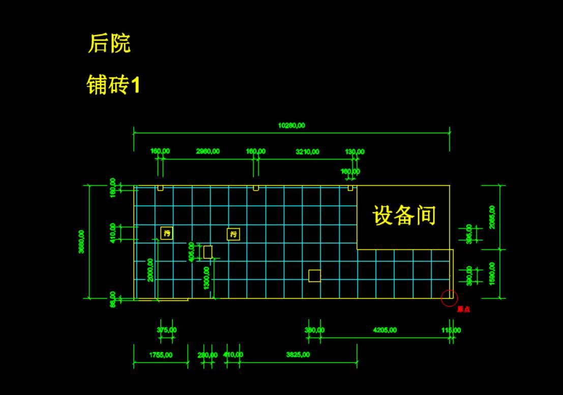 建筑设计建筑结构图CAD之院子