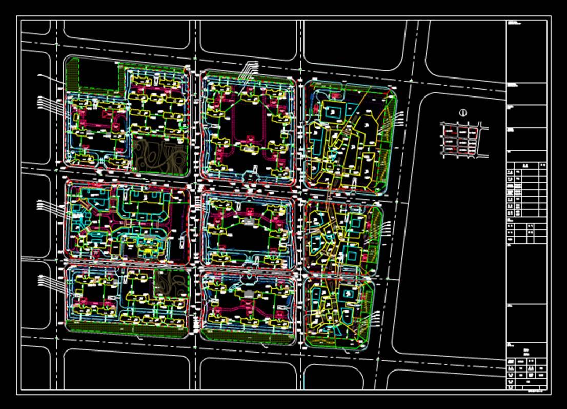 建筑设计建筑工程CAD制图之信达天御总图