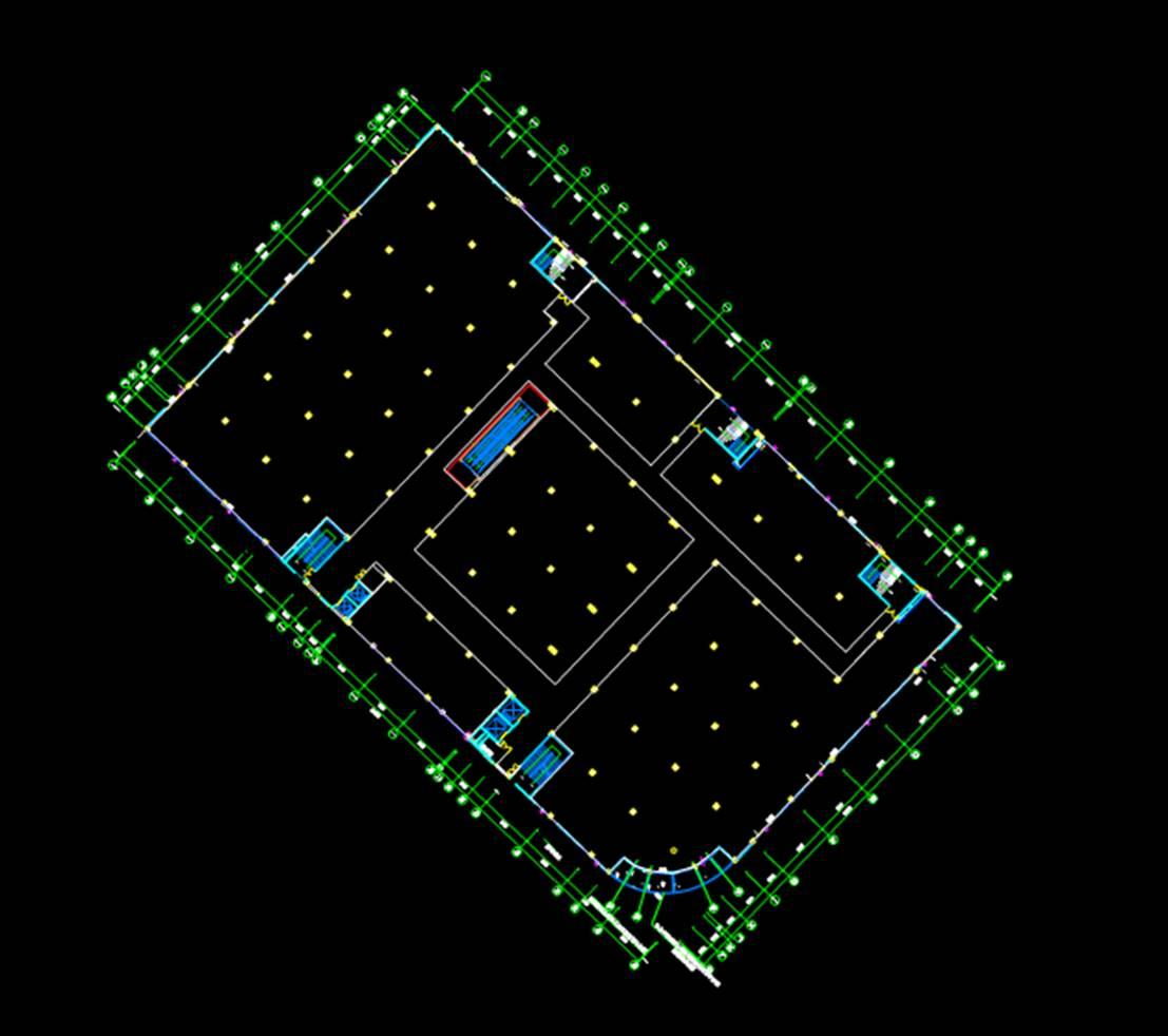 建筑设计建筑工程CAD制图之相思湖购物公园平面图1F