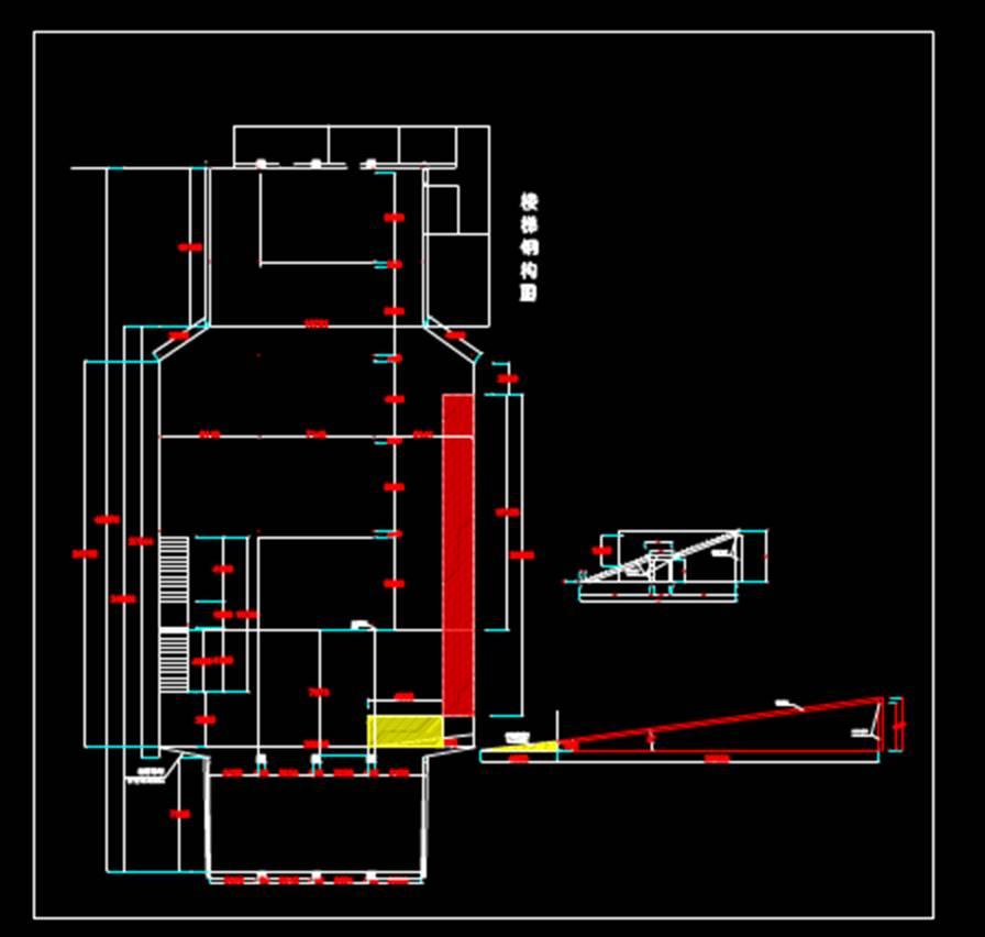 结构设计之结构构造物建筑结构图CAD超市楼梯图