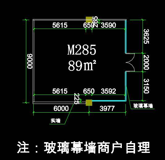 CAD建筑施工图纸之M285切铺图