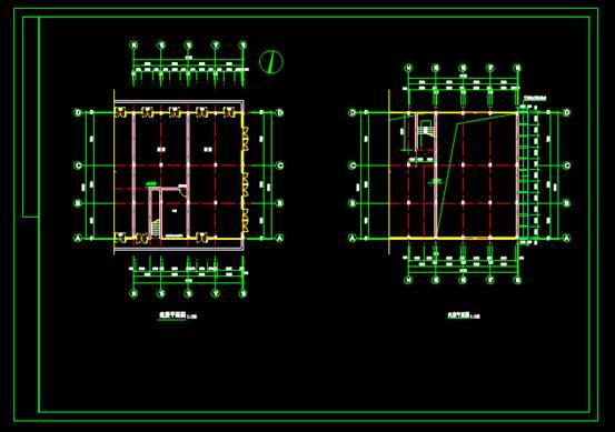 CAD建筑结构设计图之加钢结构雨蓬