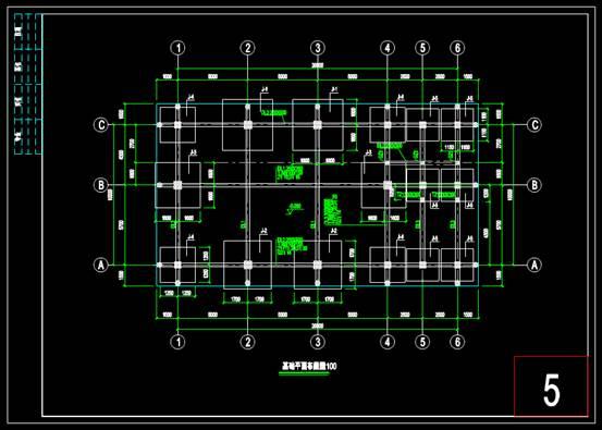 建筑结构设计CAD图之清平寺结构设计