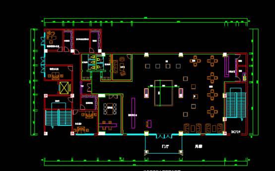销售大厅室内设计CAD绘图
