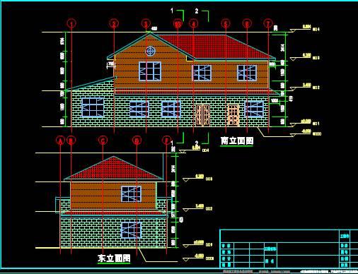 某建筑的平立面CAD施工设计图纸