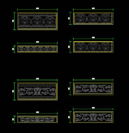 石头样式CAD平面室内图