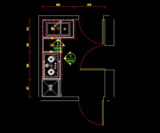橱柜室内设计CAD绘图