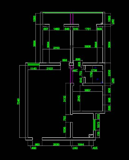 尚东城CAD平面室内图