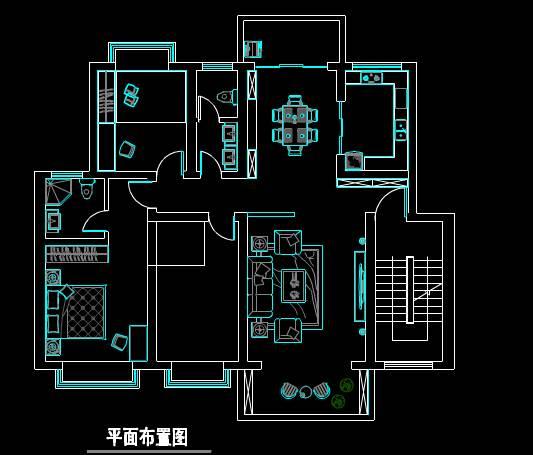 户型装饰室内设计CAD绘图
