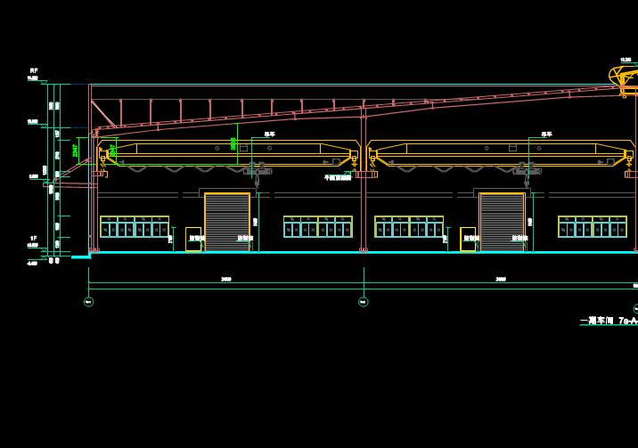 钢结构起重机建筑结构图CAD