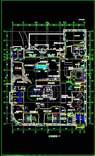 数字动物园极地馆建筑工程CAD制图