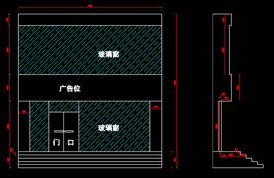 CAD建筑施工图纸之店铺门面设计