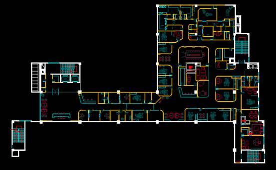 CAD建筑施工图纸之牙科大厅设计