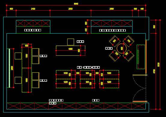 CAD建筑施工图纸之室内设施设计