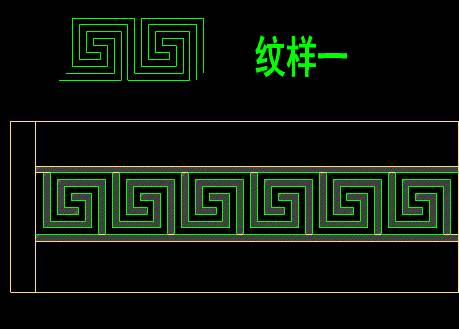装饰设计CAD图纸之防撞条纹设计